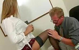 Slutty fine babe is getting slapped from behind hard core