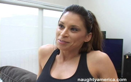 Sporty busty teacher fucks with her student for the first time